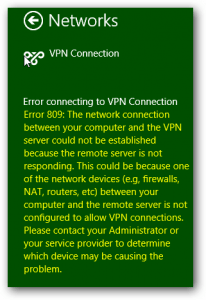 Fixing VPN Error 809 and 720: Remote Server Is Not Responding / Connection Not Established