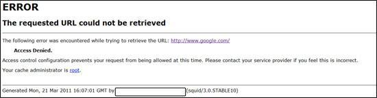 The requested URL could not be retrieved – Socks v4 / v5