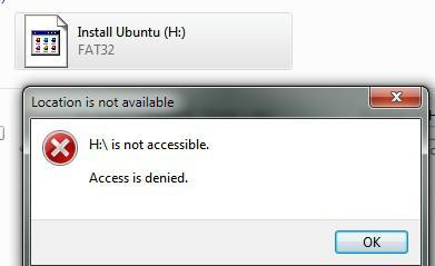 Fix Drive (F: and H:) is not accessible: Access is denied (Working Solution)