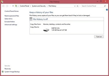 How to backup your files on Windows 8 using File History