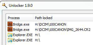 How can I find out what processes are locking my device, file or folder