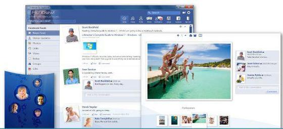 Fishbowl Facebook Client for Windows 7