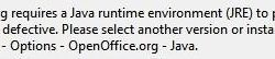 Openoffice.org requires a Java runtime environment (JRE) to perform this task