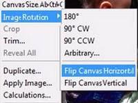 Flip an image in Photoshop using the Transform Tool