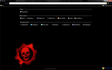 Gears of War Google Chrome Theme (Logo Theme)