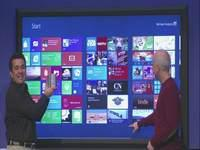 Steve Ballmer's Big Personality Matched Only By His 80-Inch Windows 8 Tablet