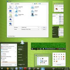 10 Green Custom Windows 7 Themes