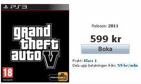 GTA 5 *Was* Shortly Available For Pre-Order