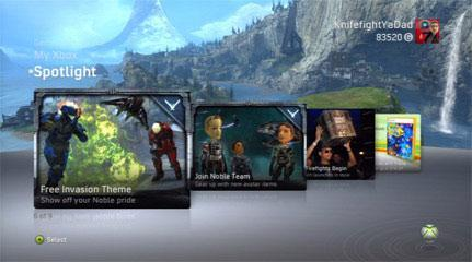 Free Halo Reach XBOX Dashboard Theme