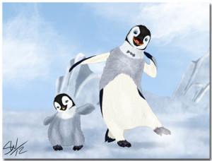Happy Feet Theme With 10 Backgrounds