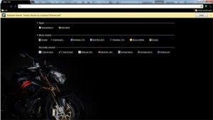 Google Chrome Harley Theme