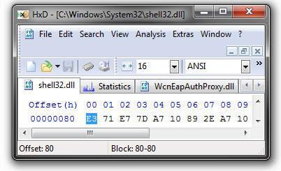 Hex Editor for Windows 7