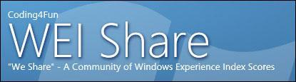 What's your highest Windows Experience Index score? Share it!