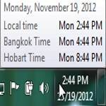 Neat: Add additional clocks to Windows 7 and see international time zones