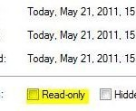 "How to change ""read only"" in Windows 7"