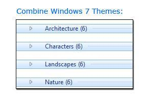 How to combine Windows 7 themes