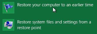 How to create a system restore point in Windows 8