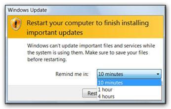 How to disable automatic restart after Windows Update