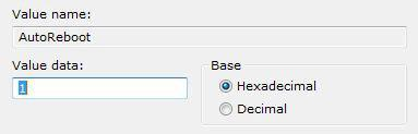 How to disable automatic restart in Windows 7?