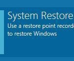 How to do system restore in Windows 8 from boot (without safe mode)