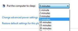 How to put Windows 7 to sleep after inactivity