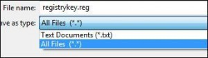 How to save a reg file (registry key)?