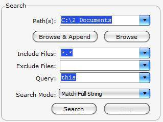 How to search for a word / text in a file