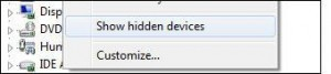 How To Show Hidden Devices in Windows 7