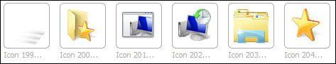 List of Windows 7 icons stored in imageres.dll