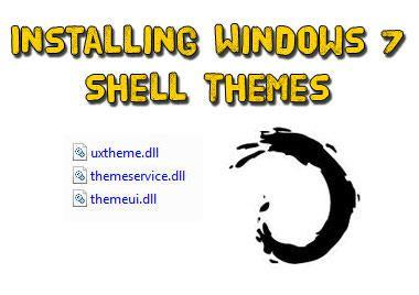 How to install Windows 7 shell themes
