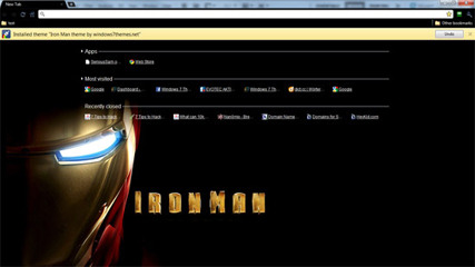 Google Chrome Iron Man Theme
