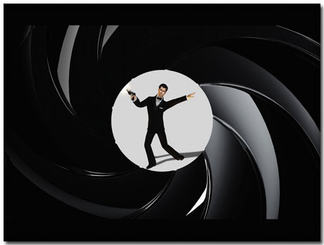 James Bond Goldeneye Theme With 10 Backgrounds