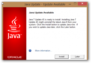 Download Java 7 Update 45 – Critical Security Update Now Available