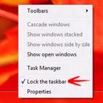 Windows 8 Taskbar: How to Lock or Unlock It