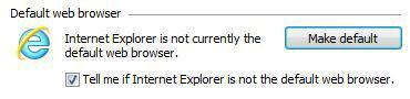 How to change default browser to IE from Firefox