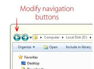 Making Custom Windows 7 Themes Part 2: How to change navigation buttons