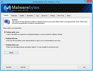 Malwarebytes Anti-Malware – protection against malware and other common threats