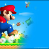 Blue Google Chrome Super Mario Theme