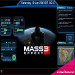 Mass Effect Rainmeter Skin Transforms Windows 7 Into N7 Supercomputer