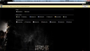 Google Chrome Medal of Honor Theme
