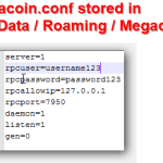 megacoin conf stored in appdata roaming megacoin png