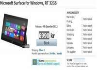 Retailer Lists Surface Pro Tablet With A Price Tag Over $1000, Wild Speculation