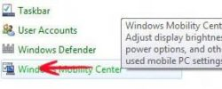 Features: How to access the Windows 8 Mobility Center