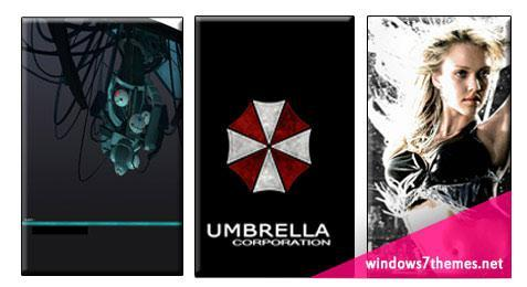 6 More Windows 7 Themes: Tech, Vaio, Umbrella Corp, Sin City, Glados, Underwater