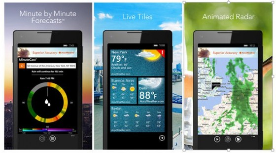 Microsoft's Windows Phone Gets Revamped AccuWeather App