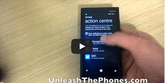 New Windows Phone 8.1 Action Center And Notification Center Previewed In Video