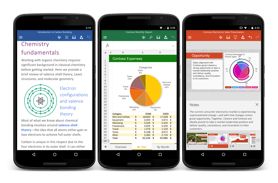 Microsoft Releases Office Apps On Android Phones