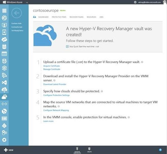 Azure Supports Hyper-V Recovery Manager Among Other New Things