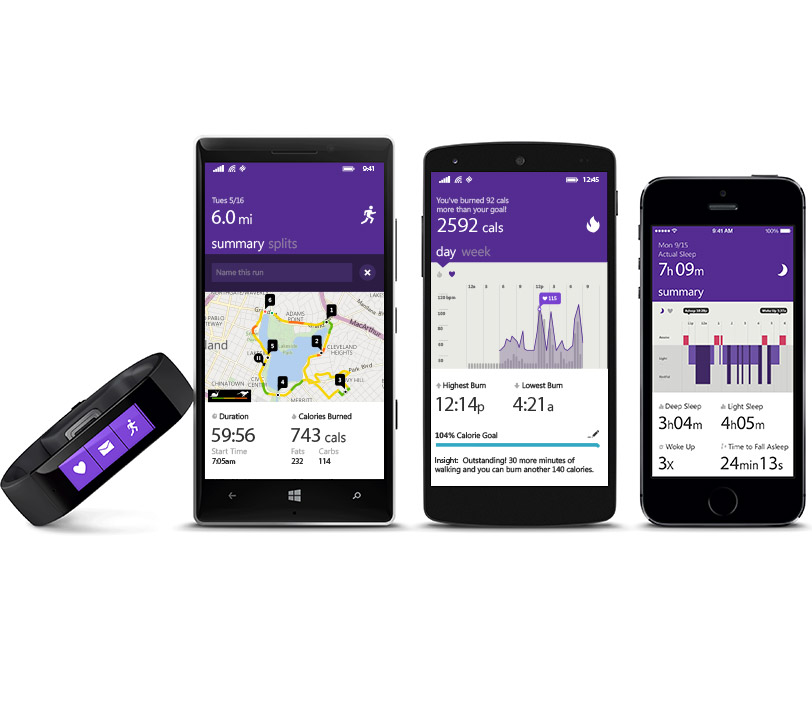 New Data For Microsoft Band Should Please Cyclists & Sleepers