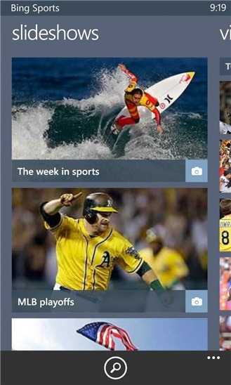 Sports Updates Highlight Latest Changes To Bing App Update For WP 8